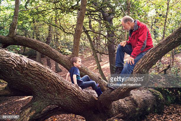 Young boy with his grandad