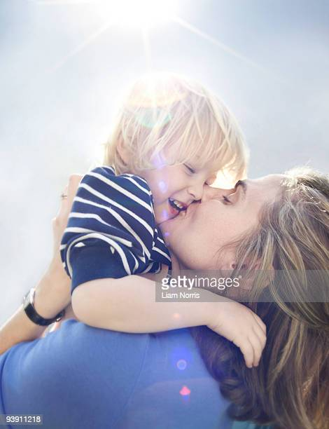Young boy with mother