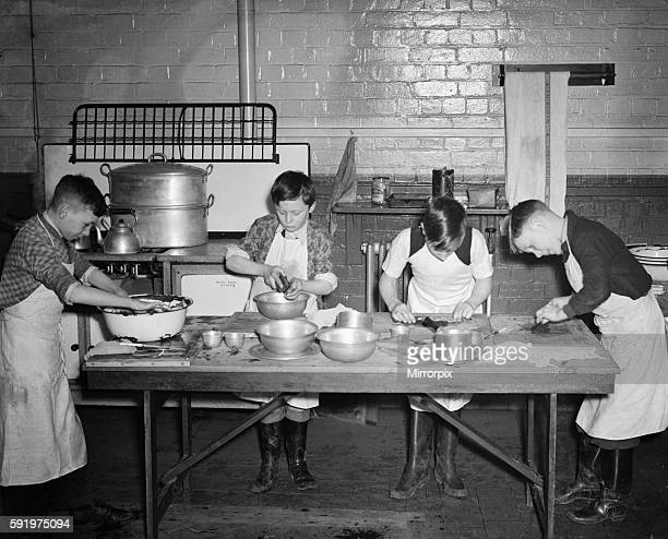 Young boys cooking during Second World War c1939