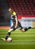 Young Boys defender Jan Lecjaks controls the ball during the Swiss Super League football match between Grasshopper Club and BSC Young Boys held at...