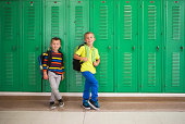 Young boys ready for elementary school.