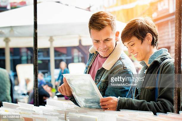 Young British couple find rare vinyl record at local fair