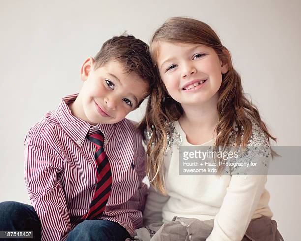 Young brother and sister together