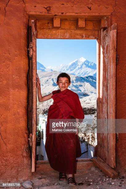 Young buddhist monk, Upper Mustang, Nepal