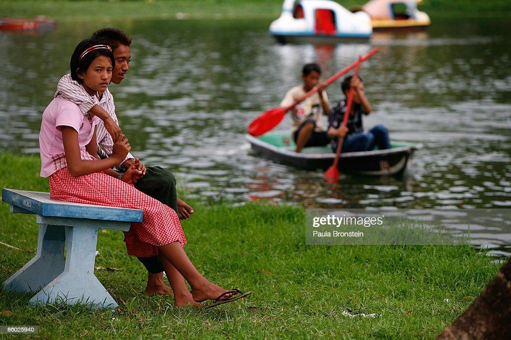 amusement park on April 18, 2009 in Yangon, Myanmar (also called Burma ...