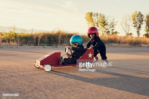 Young Business Boys Race Toy Car