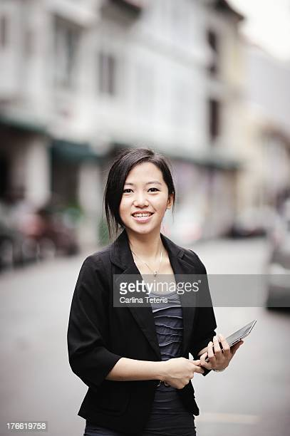Young business executive with a tablet computer