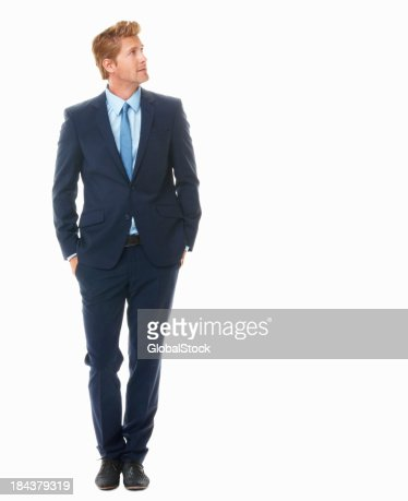 Young business man looking away