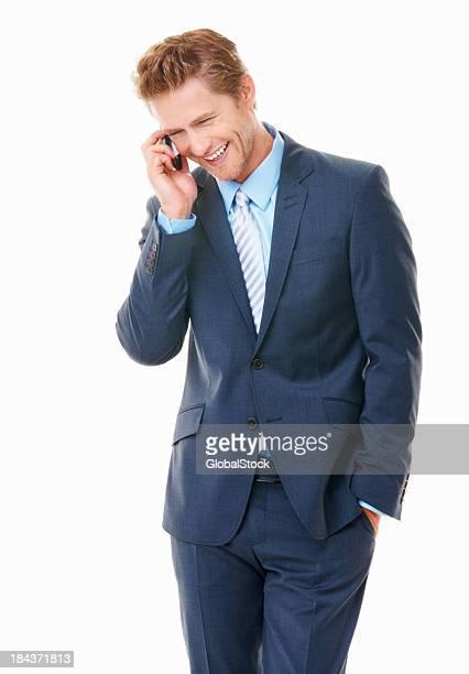 Junge business Mann am Telefon