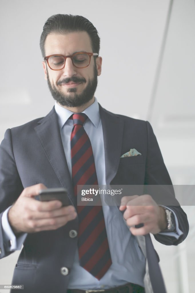 Young business man on the phone : Foto stock