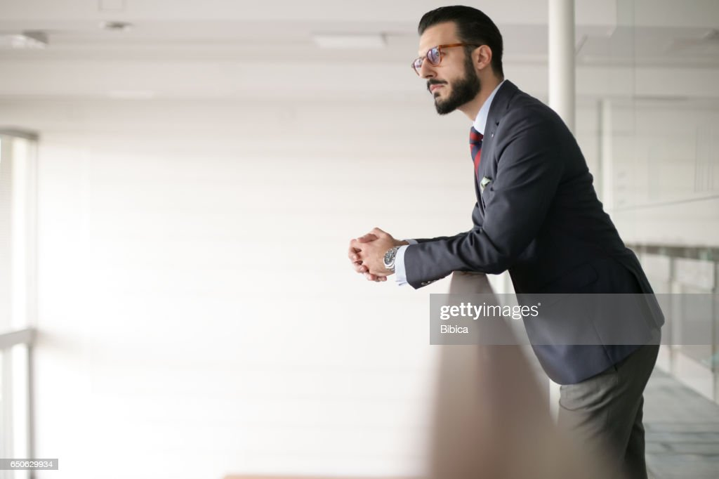 Young business man on the phone : Stock Photo
