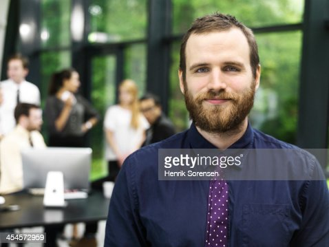 Young business man portrait : Stock Photo
