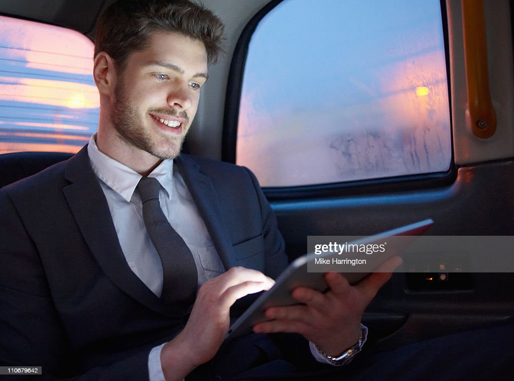 Young Business Man Using Graphic Tablet