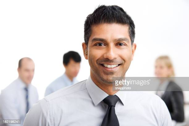 Young Business Man with Work Group