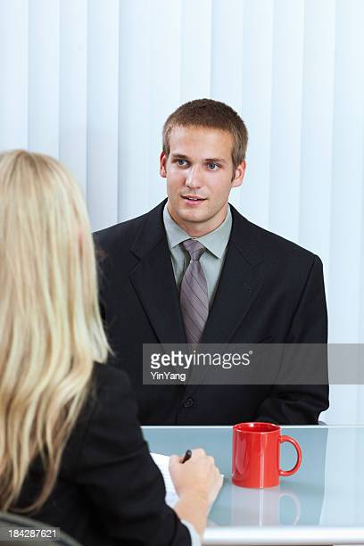 Young Business Person in Interview Meeting with Human Resource Manager