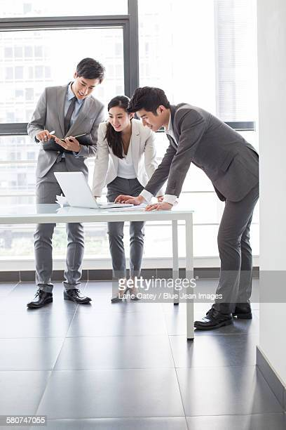 Young business person talking in meeting