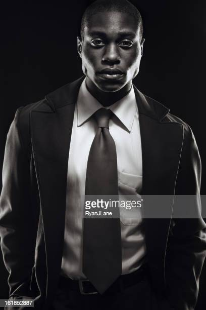 Young Business Professional Black and White