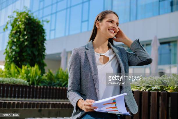 Young business woman outdoors