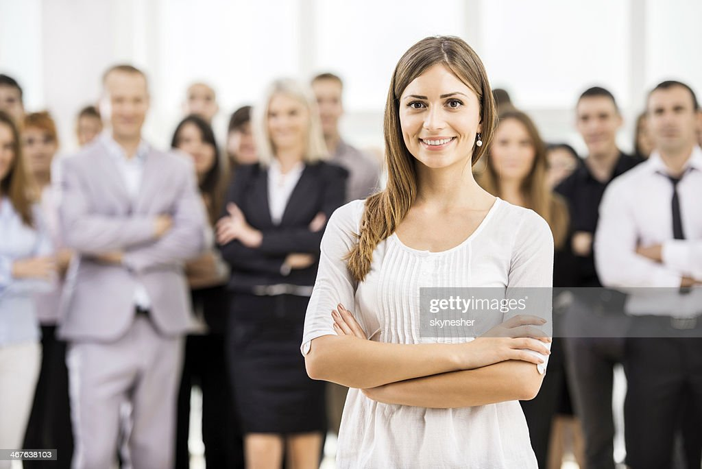 Young business woman. : Stock Photo
