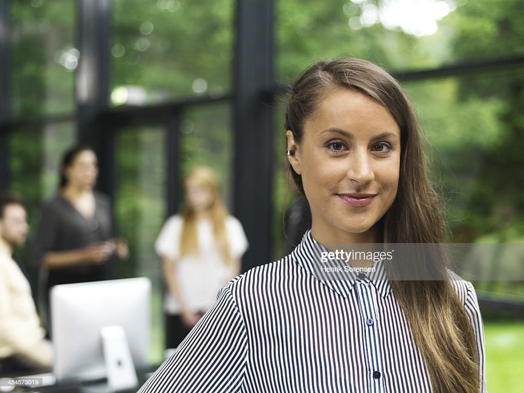 Young business woman portrait : Stock Photo