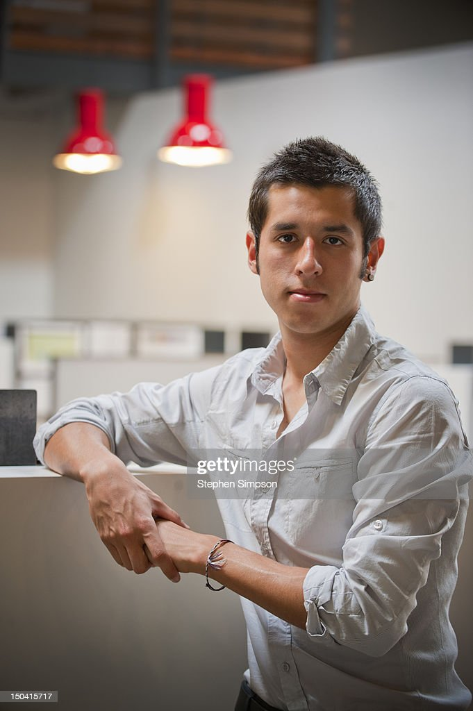 young businessman, graphic design office : Stock Photo