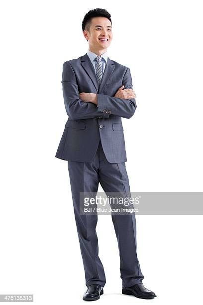Young businessman looking at view