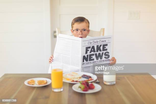 A Young Businessman Reading Fake News