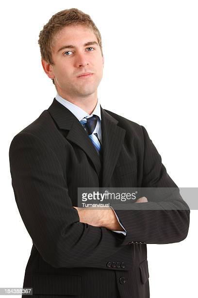 Young Businessman with Serious Look