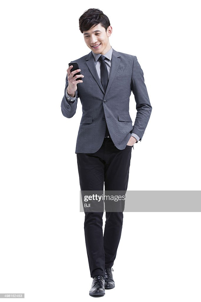 Young businessman with smart phone