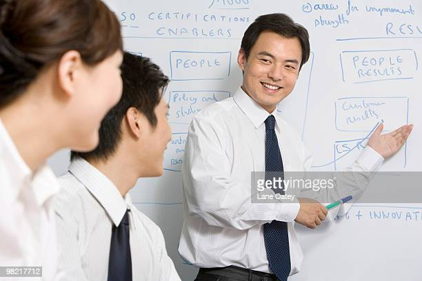 Young businessmen in meeting room