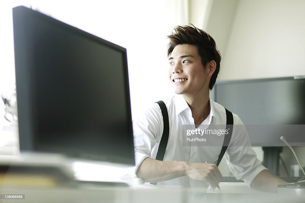 young businessmen working in the office