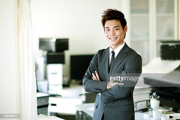 young businessmen working in the office,portrait