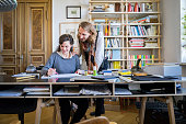 Young businesspeople working in home office