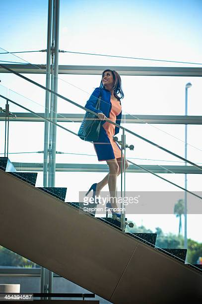 young businesswoman at the airport between flights