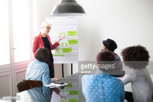 Young businesswoman discussing future plans with her for Future planner online