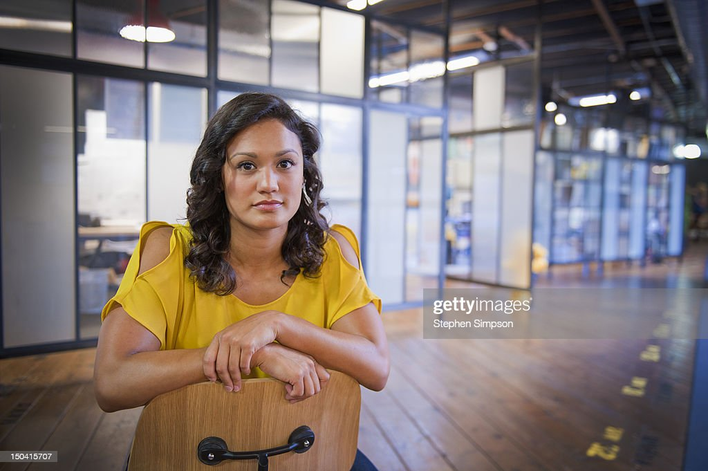 young businesswoman, graphic design office : Stock Photo