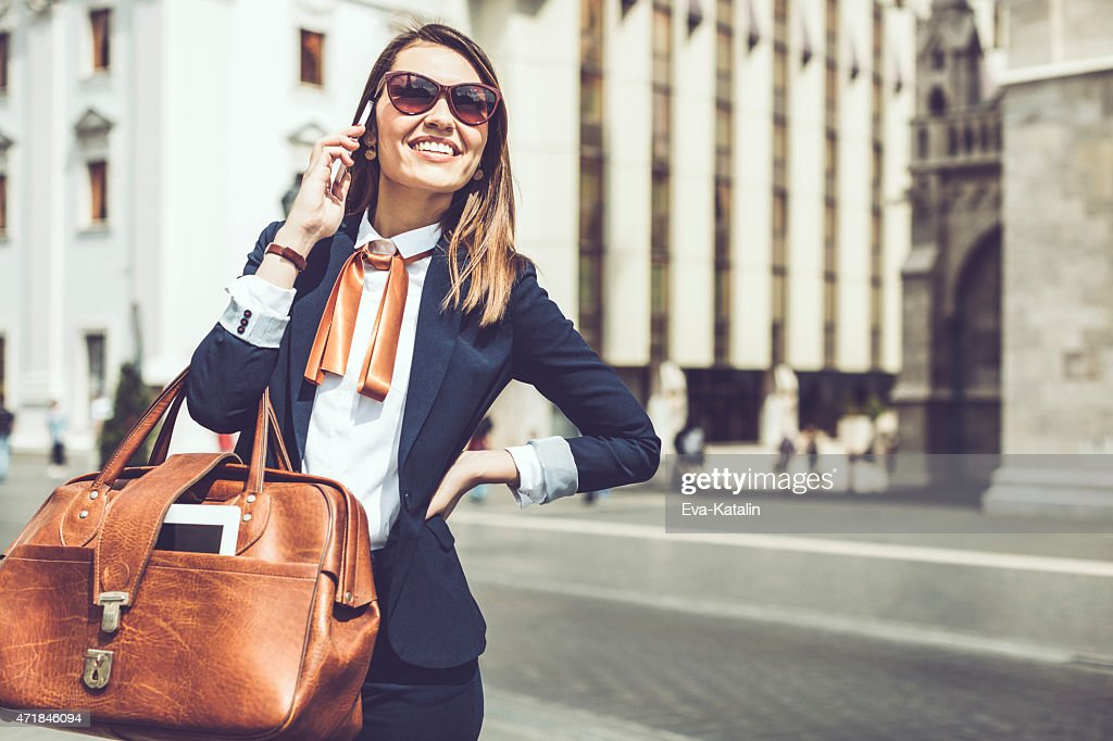 Young businesswoman on the phone : Stock Photo