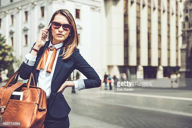 Young businesswoman on the phone