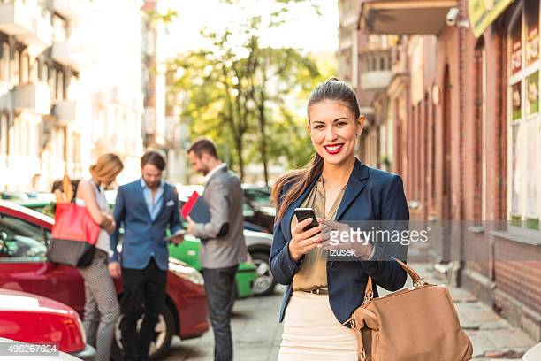 Young businesswoman on the street