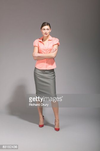 Young businesswoman thinking : Stock Photo