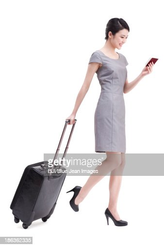 Young businesswoman travelling