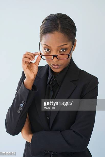 Young businesswoman wearing spectacles, portrait