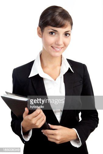 Young businesswoman with folder