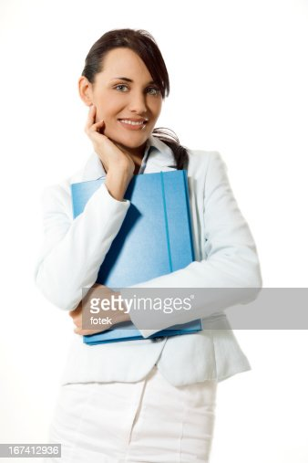 Young businesswoman with planner : Stock Photo