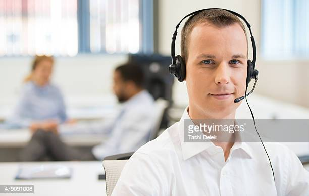 Young Call Center Employee