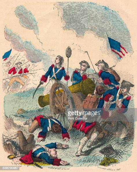 Young Callender Fighting his Gun Possibly an image showing Capt John Callender at the Battle of Bunker Hill June 17th during the early stages of the...