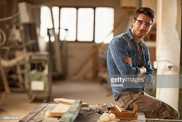 Young carpenter