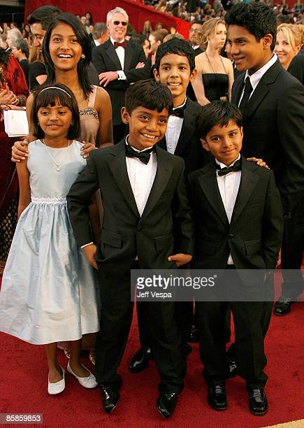 Young cast of 'Slumdog Millionaire' arrives at the 81st Annual Academy Awards held at The Kodak Theatre on February 22 2009 in Hollywood California