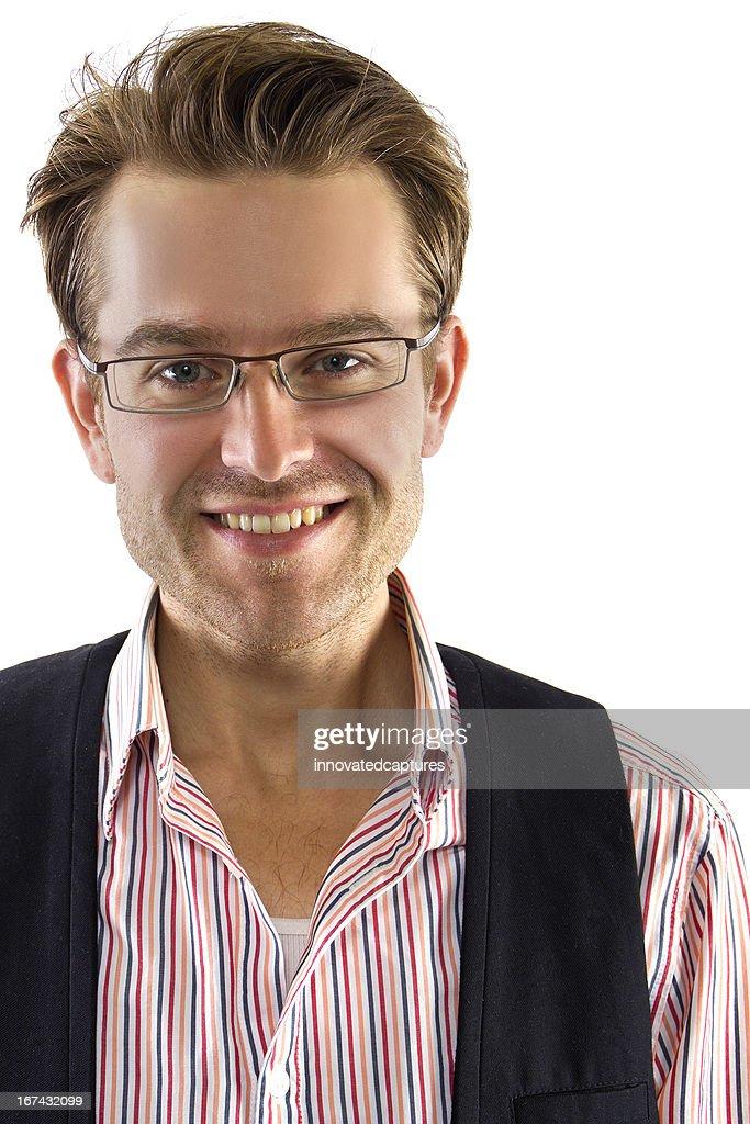 Young Caucasian Entrepreneur or Casual Businessman : Stock Photo