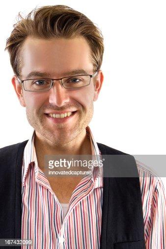 Jovem caucasiano empresário ou Casual Empresário : Foto de stock